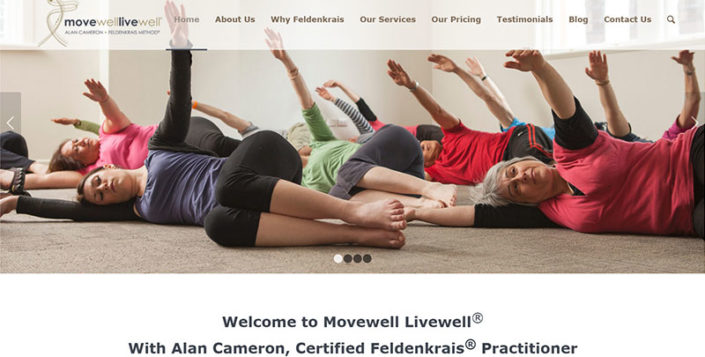 Aztera Marketing website design and SEO for Movewell Livewell, Wellington