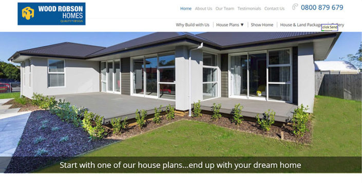 Aztera Marketing website design and SEO for Wood Robson Homes