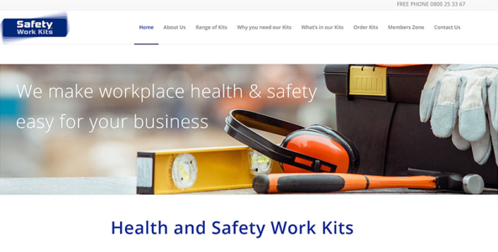 Aztera Website-Design for Safety-Work-Kits-website